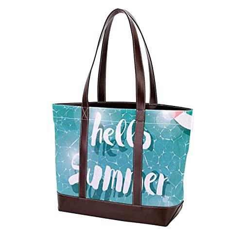 para madres, mujeres, niñas, señoras, estudiantes, piscina, verano, bolso de compras, bolsos de hombro, bolso de mano, bolsos ligeros con correa