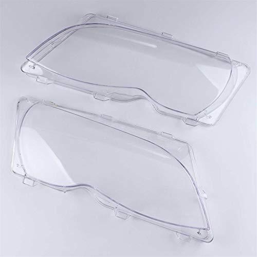 N\A Scheinwerferglas, Lampenabdeckung Ersatzglas 2 Stück Autoscheinwerfer Scheinwerferlinsenschale for E46 318i / 320i / 325i / 325xi / 330i / 330xi (2002-2005)