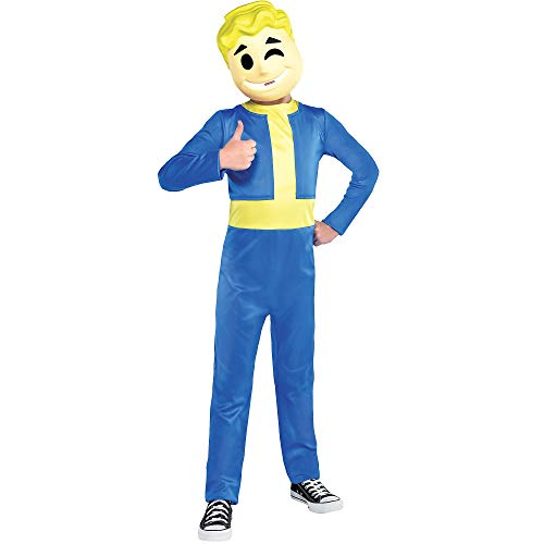 Party City Vault Boy Halloween Costume, Fallout Shelter, Medium, Includes Mask