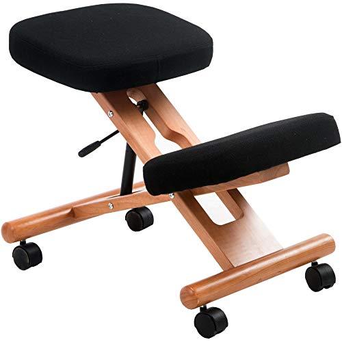 Office Furniture Online Posture Deluxe Holz-Kniestuhl | Schwarz