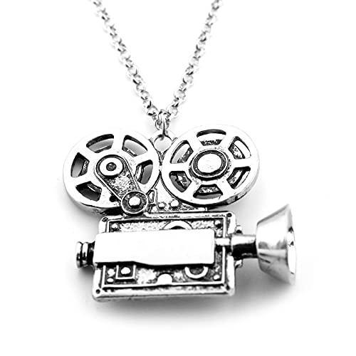 YUNMENG Cool Dr Who Movie Proyector Forma Colgante Collar de aleación Regalo Mujeres Hombres Accesorios de joyería