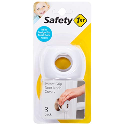 Safety 1st Parent Grip Door Knob Covers, White, One Size (Pack of 3)