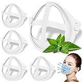 VASIN 3D Máscara Soporte, 5 Soporte 3D para Uso CóModo Marco De Soporte Interior De Silicona para MáScara Reutilizable Ayuda A Respirar Suavemente, Protege el Lápiz Labial