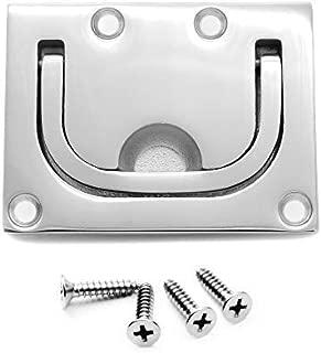 Vakocean 316 Stainless Steel Pull Flush Lift Ring Recessed Handle Locker Cabinet