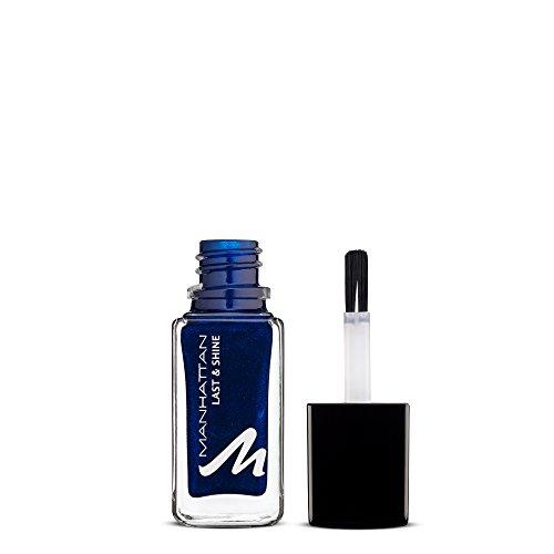 Manhattan Last & Shine Nagellack – Marineblauer, glänzender Nail Polish für 10 Tage perfekten Halt – Farbe Midnight Kiss 880 – 1 x 10ml