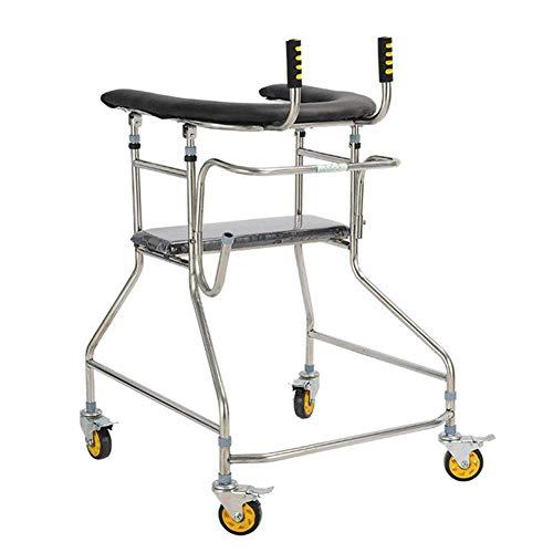 HTL Ayuda para Caminar Ligero Plegable Ajustable de Conducción Médica Walker, Ancianos Stroke Walker, Hemiplejía, Walker Adultos, Miembro Inferior Rehabilitación Equipo de Formación, Bipedestador Sal