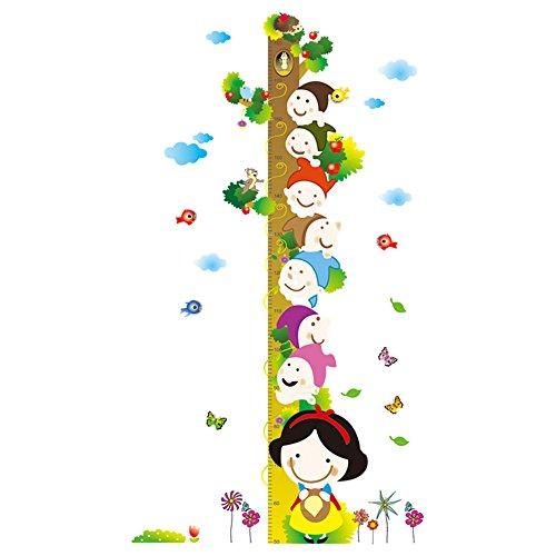 Winhappyhome Fairy Tale Kids Height Measurement Chart Art Muraux Stickers pour La Chambre des Enfants Garderie Décalcomanies Décor Amovibles