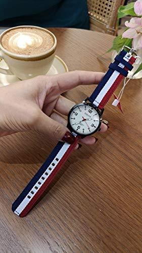 ZWH AliExpress Color Paño con El Estudiante Digital Collar De Cuello Blanco Cuarzo Cuelga Reloj Fast Live Broadcast Fabricantes al por Mayor (Color : Yinglunn White E)