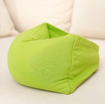 Almohadas para el cuello + Máscara para los ojos 2 en 1 siesta Mascarilla para el ojo Partículas de espuma Almohada para el viaje Avestruz Avión Almohada 23 * 12 * 8 cm