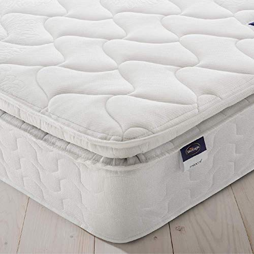 Silentnight Pillowtop Mattress | Zoned Spring System | Eco Comfort Cushioning | Quilted Cover | Medium Firm | King