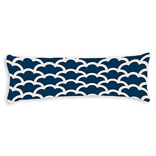 Promini Funda de almohada simple y moderna japonesa con cierre de cremallera oculta para sofá, banco, cama, decoración del hogar, 50,8 x 137,2 cm
