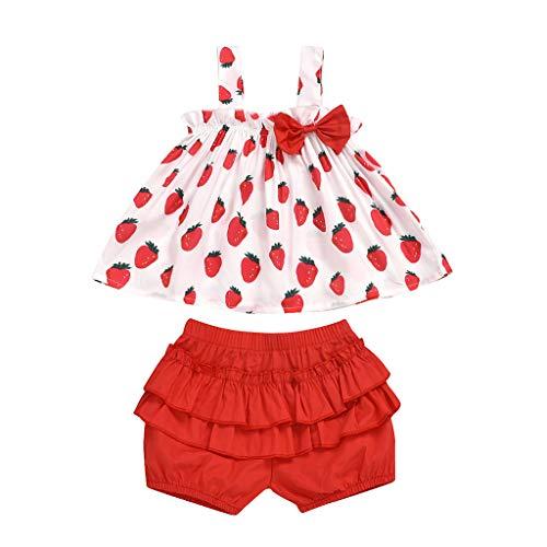 Janly Liquidación Venta 0-5 años de edad, conjunto de ropa para niña pequeña con estampado de hombros...
