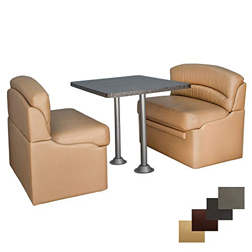 RecPro 42' Dinette Booth Set with Table and Leg,...