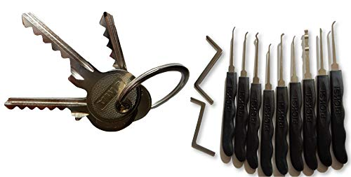 Picklock24. Kit completo para principiantes (kit de ganzuas y llaves Bumping)