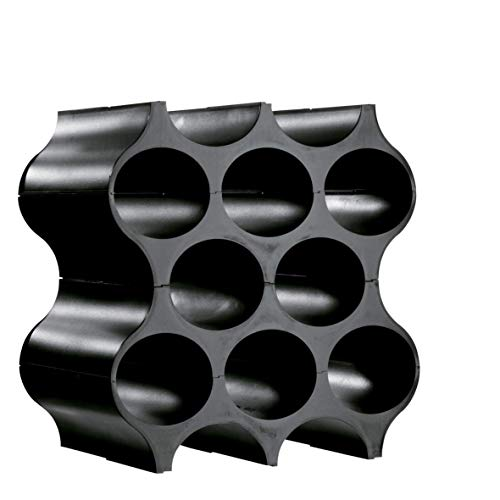 Koziol Set-Up Flaschenregal Schwarz 3596, Polypropylen, cosmos black, Höhe: 364 mm/Breite: 353 mm/Länge 230 mm