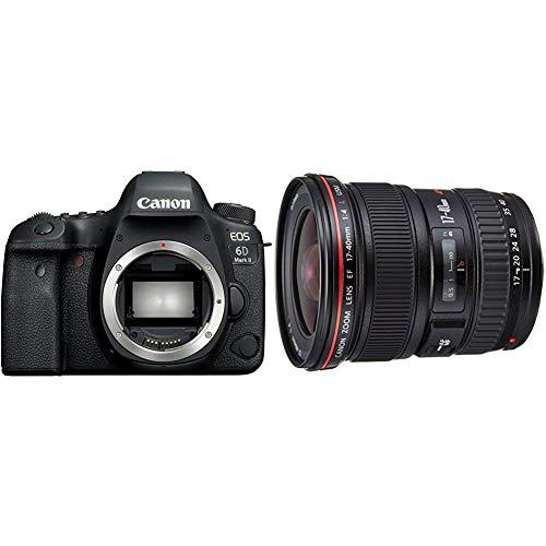 Canon EOS 6D MK II - Cámara digital réflex de 26.2 MP + Objetivo para Canon EF 17-40mm F/4L USM