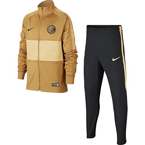 Nike Unisex Kinder Inter Y Nk Dry Strk TRK Suit K Trainingsanzug, Bronze/Schwarz/Gold/Schwarz, L