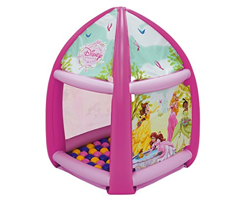 Disney Princess Beauty in Bloom Ball Pit, 1 Inflatable & 20 Sof-Flex Balls, Pink, 37
