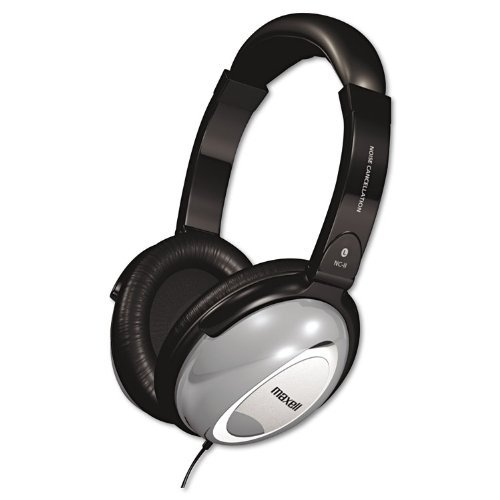 Maxell 190400 NC-II Noise Canceling Headphone Black/Gray