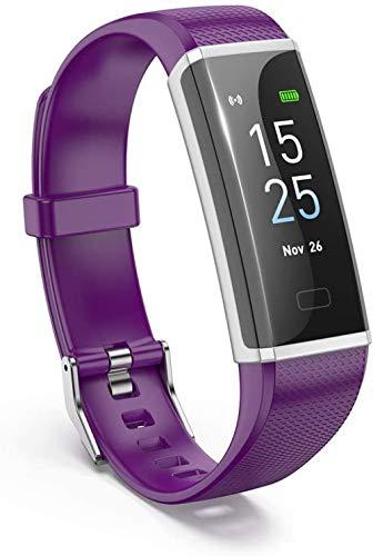 Pantalla de color de alta definición pulsera inteligente 0.96 pulgadas monitoreo del sueño IP68 dispositivo portátil impermeable Bluetooth podómetro-púrpura