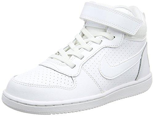 Nike Court Borough Mid (Psv)-870026, Jungen Basketballschuhe, Weiß (White/White 100), 30 EU