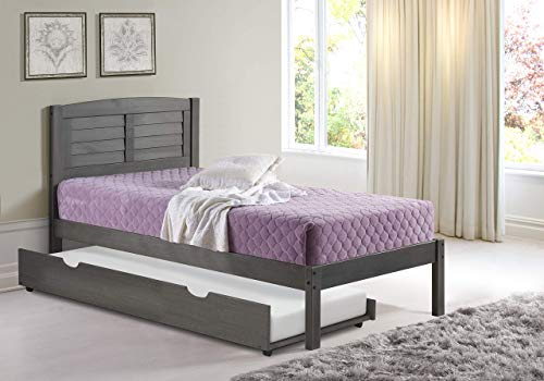 Donco Kids Louver Trundle Bed, Twin, Antique Grey