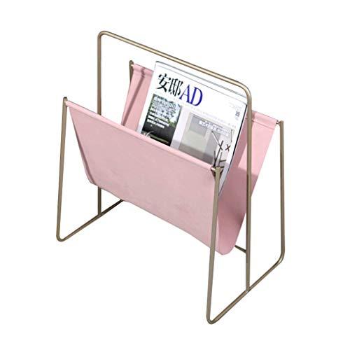MZXUN Estante, Dormitorio de Cuero periódico de cabecera Rejilla de Metal Estante de salón Simple Rack de Escritorio pequeño Estante escombros Caja Creativa estantería