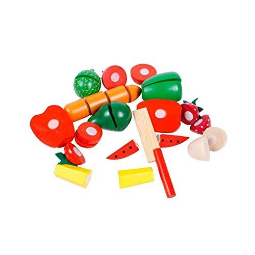 Xiton Schneiden Speisen Set Spiele Aus Holz Obst Und Gemüse Cutter Puzzle Spielzeug Kind-Küche-Spielzeug-Frucht Spielen Sie Haus-Ausbildungs-Spielzeug Miniatur-Spiele Pretend