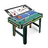 FZYE Mesa de Juego multijuego 3 en 1, Que Incluye Accesorios completos, Mesa de Juego con Billar, Tenis de Mesa, tableros de Hockey de Velocidad, Juegos de Mesa Arcade