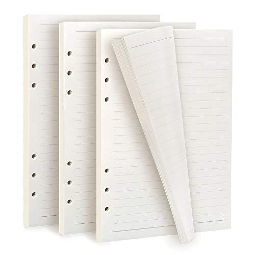 Diealles Shine 135 Hojas/270Páginas Papel de Recambio A5 con 6 Anillas para Cuadernos Diarios Planificador Calendario DIY Scrapbooks, Rayado