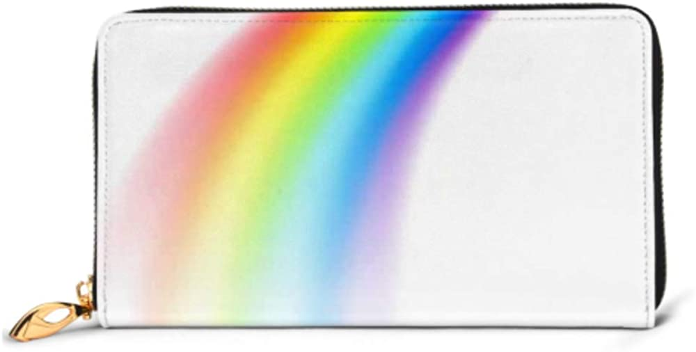 Fashion Handbag Zipper Wallet Picture Rainbow Perspective Isolated On White Phone Clutch Purse Evening Clutch Blocking Leather Wallet Multi Card Or