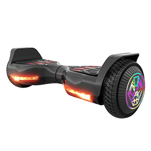 Swagtron Swagboard Twist 3 Self Balancing Hoverboard for Kids Multicolor LED Wheels and LiFePo Battery Technology (Black)