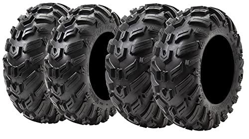 Set Of 4 Tusk Terraform ATV UTV All-Terrain Tires Front: 25x8-12 Rear: 25x10-12