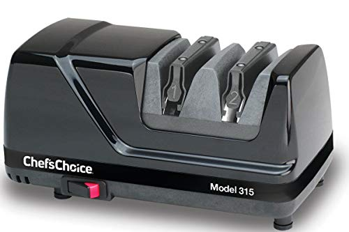 Chef'sChoice Versatile Professional Diamond Hone Electric Knife Sharpener with XV Technology for Straight Edge or Serrated Knives 15 and 20 Degree, 2-stage, Black