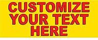 ハーフプライスバナー   カスタムビジネスビニールバナー - 高耐久 アウトドア   ジップタイ付き   簡単吊り下げサイン-アメリカ製 3'x8'