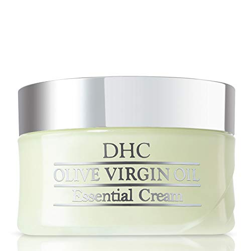 DHC Olive Virgin Oil Essential Cream, Moisturizer, Hydrating, Promotes Skin Elasticity, Radiant, Fragrance and Colorant Free, Ideal for All Skin Types, 1.7 oz. Net wt.