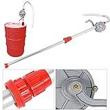 Outil de pompe de baril de tambour de main de garage de siphon de siphon de carburant d'huile rotatoire en aluminium auto-amorçant, baril de tambour de suctine de transfert de carburant d'huile