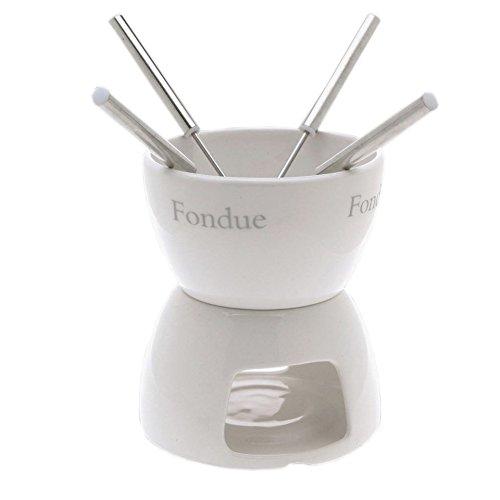 Excellent Houseware 411697 Chocolade fondue Set 4 Keramik schokoladefondue