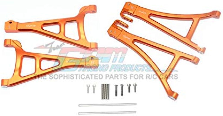 G.P.M. Traxxas ERevo 2.0 VXL Brushless (860864) Tuning Teile Aluminium Front Suspension Arm Set (Upper+Lower)  4Pc Set orange