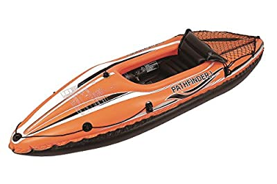 """POOL CENTRAL JL007202N Pool Central 108"""" Orange and Black Pathfinder I Inflatable Single Person Kayak by Pool Central"""