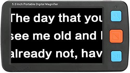 Magnifier digital de mano Actualizado 5 en la lupa de video digital, ayuda de lectura electrónica móvil portátil de mano, soporte de pantalla LCD HDMI AV Salida a TV, zoom 4x-32x, 17 tipos de modos de