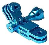 Nueva extensión del soporte de montaje Sólido y duradero Brazo giratorio de aluminio desmontable de tres vías Adaptador de cámara de acción de fácil instalación para accesorios de cámara de acción Gop