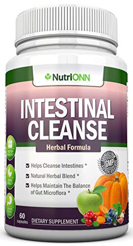 Intestinal Cleanse - All Natural Herbal Detox Formula - Full 10-Day Detox Program - Wormwood, Cranberry, Paul D Arco, Goldenseal, Garlic, Black Walnut Hull, Echinacea and 10 Other Natural Ingredients