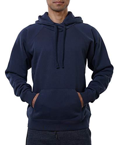 FORBIDEFENSE Men's Pullover Fleece Hoodie Long Sleeve Hooded Sweatshirt Smoke Navy Small
