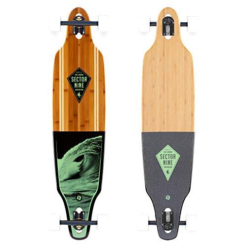 "Sector 9 Green Wave Lookout II Drop-Thru Bamboo Complete Downhill Longboard Skateboard - 9.6"" x 42"""