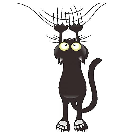 Onsinic Pegatinas de gato negro extraíbles pegatinas autoadhesivas para pared, nevera, inodoro y ventanas