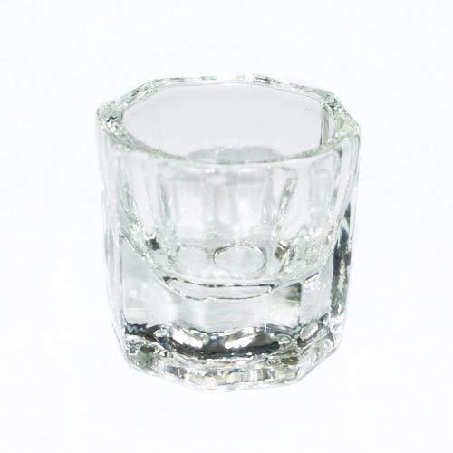 Greenlans Glasschale, achteckige Form, Glaskristall, Dappen-Schale, Acryl-Lösung, Nagelkunst-Werkzeug