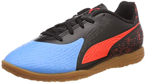 Puma Unisex-Kinder ONE 19.4 IT Jr Multisport Indoor Schuhe, Blau (Bleu Azur-Red Blast Black-Gum), 28 EU