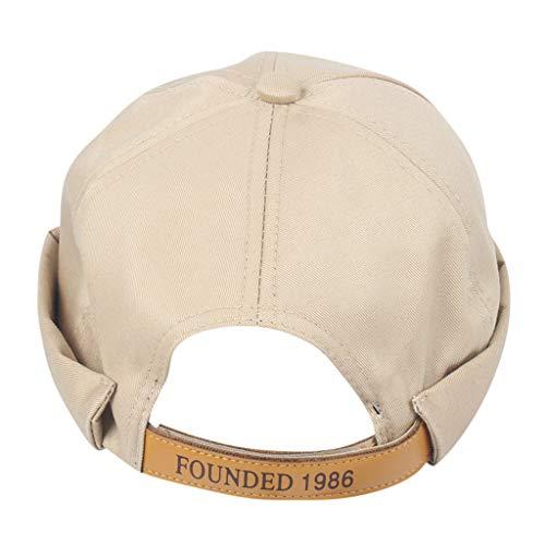 Lowest Price! Egmy Unisex Retro Cotton Twill olled Cuff Harbour Beanie Corduroy Docker Hat Cap Briml...