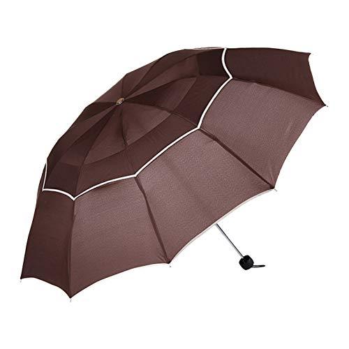 PJFGNMJJK Paraguas Grande Hombres A Prueba De Lluvia A Prueba De Viento Señora Paraguas Grande Hombres Y Mujeres Protector Solar Paraguas Plegable Paraguas Exterior